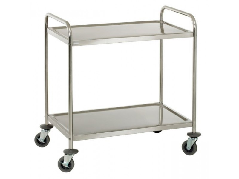 Achat chariot inox cuisine 2 plateaux et chariot for Chariot inox restauration
