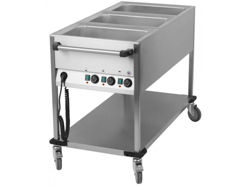 achat chariot bain marie 3 cuves et chariot bain marie professionnel. Black Bedroom Furniture Sets. Home Design Ideas