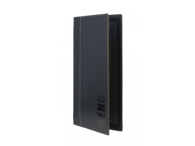 achat prot ge menu restaurant a4 noir et prot ge carte en cuir long. Black Bedroom Furniture Sets. Home Design Ideas