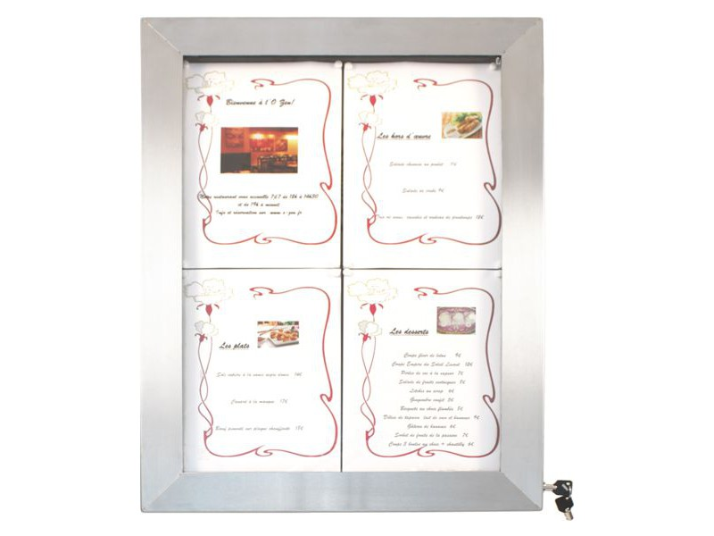 Achat support menu restaurant et porte menus ext rieur led for Porte menu exterieur