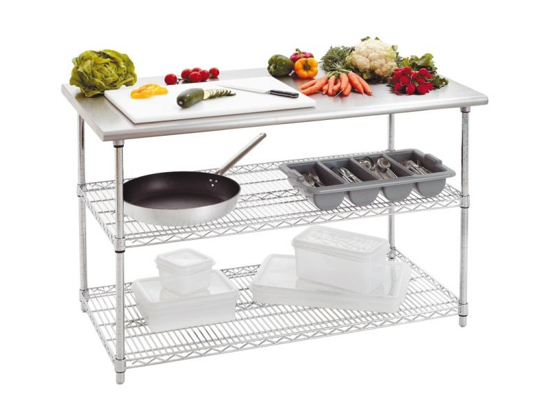 Achat table inox cuisine table de travail inox de 130 cm for Table de cuisine inox