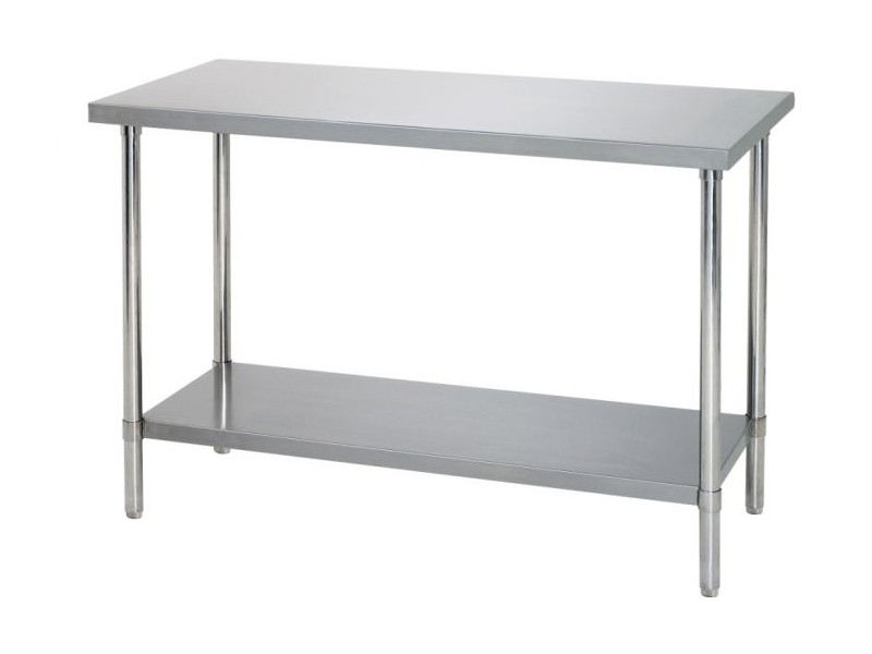 vente table cuisine inox et table de travail inox 100 cm avec tag re. Black Bedroom Furniture Sets. Home Design Ideas