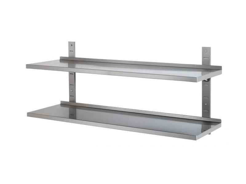 Achat tag re professionnelle tag re murale inox 2 for Etagere murale cuisine inox