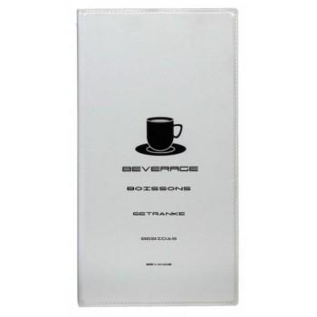 Protège carte des boissons A4 blanc