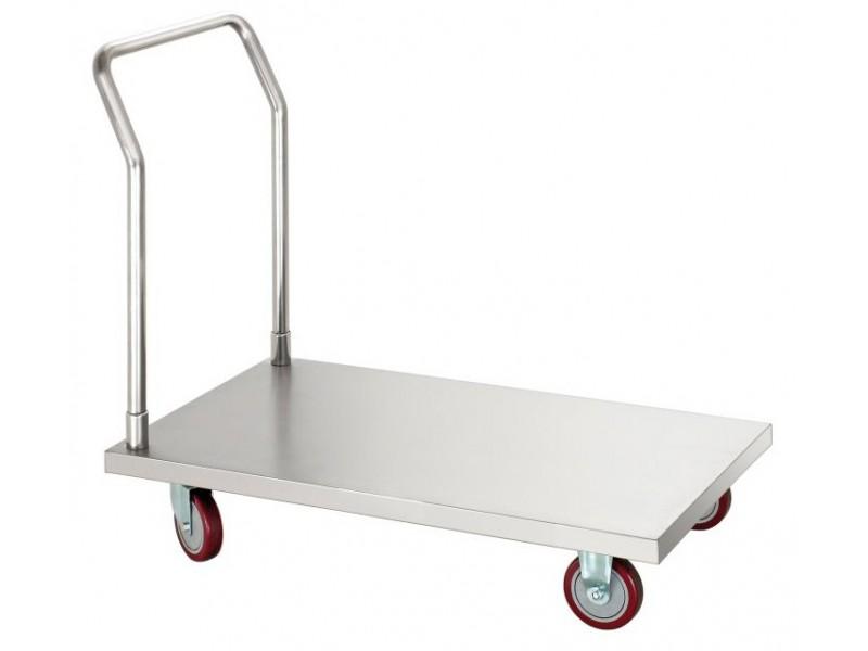 Chariot en inox de transport pour produits lourds for Materiel inox professionnel