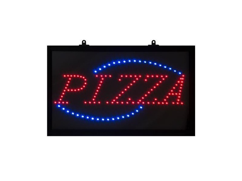 tableau led avec affichage du message pizza. Black Bedroom Furniture Sets. Home Design Ideas