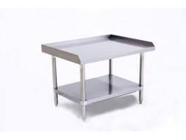 Table inox pour plaque à snacker gaz