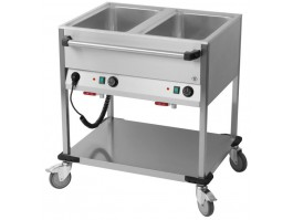 Chariot Bain-Marie 2 Cuves