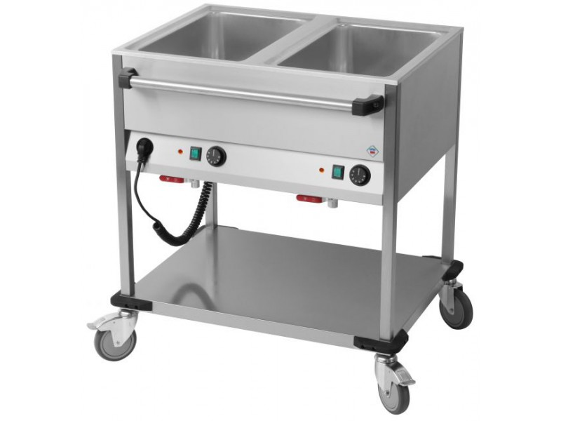 chariot bain marie 2 cuves
